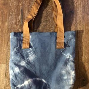 Kék batikolt csak egy van táska - Meska.hu
