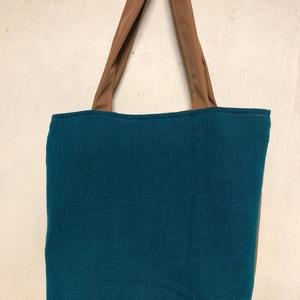 Türkiz csak egy van táska, Táska & Tok, Bevásárlás & Shopper táska, Shopper, textiltáska, szatyor, Varrás, Festett tárgyak, Meska