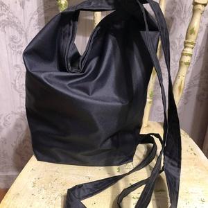 univerzális 3 az egyben táska, Táska & Tok, Kézitáska & válltáska, Nagy pakolós táska, Varrás, Vastag, sötétszürke vízlepergetős orkán, erős tartású, jó strapabíró. \nUniverzális: hátizsák, oldalt..., Meska