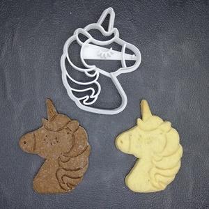 Unikornis keksz, sütemény kiszúró forma, Konyhafelszerelés, Otthon & lakás, Egyéb, Mézeskalácssütés, Mindenmás, 3D nyomtatással készült unikornisos kekszkiszúró. Legnagyobb mérete kb. 6 cm.\n\nSzemélyes átvétel Mar..., Meska