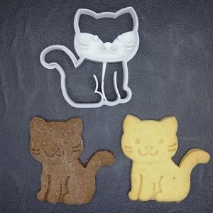 Cicás (ülő) keksz, sütemény kiszúró forma, Konyhafelszerelés, Otthon & lakás, Egyéb, Mézeskalácssütés, Mindenmás, 3D nyomtatással készült cicás kekszkiszúró. Legnagyobb mérete kb. 6 cm.\n\nSzemélyes átvétel Martonvás..., Meska