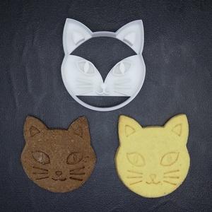 Cicás (cicafej) keksz, sütemény kiszúró forma, Konyhafelszerelés, Otthon & lakás, Egyéb, Mézeskalácssütés, Mindenmás, 3D nyomtatással készült cicás kekszkiszúró. Legnagyobb mérete kb. 6 cm.\n\nSzemélyes átvétel Martonvás..., Meska