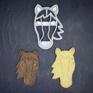 Lovas (ló ,lófej) keksz, sütemény kiszúró forma, Konyhafelszerelés, Otthon & lakás, Egyéb, Mézeskalácssütés, Mindenmás, 3D nyomtatással készült lovas (lófej szemből) kekszkiszúró. Legnagyobb mérete kb. 6 cm.\n\nSzemélyes á..., Meska