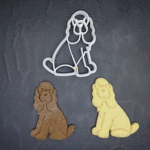 Kutya, kutyás (~spániel) keksz, sütemény kiszúró forma, Konyhafelszerelés, Otthon & lakás, Egyéb, Mézeskalácssütés, Mindenmás, 3D nyomtatással készült kutyás (spániel jellegű)  kekszkiszúró. Legnagyobb mérete kb. 6 cm.\n\nSzemély..., Meska