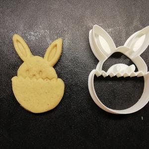 Húsvéti (tojásos nyuszi) keksz, sütemény kiszúró forma, Konyhafelszerelés, Otthon & lakás, Egyéb, Húsvéti díszek, Ünnepi dekoráció, Dekoráció, Mézeskalácssütés, Mindenmás, 3D nyomtatással készült húsvéti (tojásos nyuszi) kekszkiszúró. Legnagyobb mérete kb. 6 cm.\n\nSzemélye..., Meska