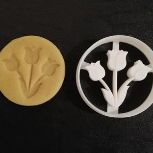 Húsvéti (tulipán) keksz, süti. sütemény kiszúró forma, Konyhafelszerelés, Otthon & lakás, Egyéb, Mézeskalácssütés, Mindenmás, 3D nyomtatással készült húsvéti (tulipán) kekszkiszúró. Legnagyobb mérete kb. 6 cm.\n\nSzemélyes átvét..., Meska