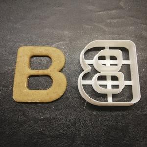 ABC-s (B) kekszkiszúró, Otthon & lakás, Konyhafelszerelés, Egyéb, Mézeskalácssütés, Mindenmás, 3D nyomtatással készült ABC-s (B)  kiszúró kekszhez, mézeskalácshoz, fondanthoz. \n\n6 és 8 cm-es mére..., Meska