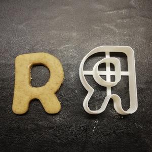 ABC-s (R) kekszkiszúró, Otthon & lakás, Konyhafelszerelés, Egyéb, Mézeskalácssütés, Mindenmás, 3D nyomtatással készült ABC-s (R) kiszúró kekszhez, mézeskalácshoz, fondanthoz. \n\n6 és 8 cm-es méret..., Meska
