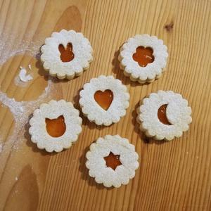 7 db-os linzer kiszúró forma, Karácsony, Otthon & lakás, Konyhafelszerelés, Kulinária (élelmiszer), Mézeskalácssütés, Mindenmás, 3D nyomtatással készült linzer kiszúró formák: csillag, hold, virág, cica, nyuszi, szívecske és alsó..., Meska