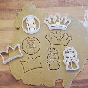 Hercegnős keksz-, mézeskalács-, süti kiszúró forma szettben, Otthon & Lakás, Konyhafelszerelés, Sütikiszúró, Mindenmás, Mézeskalácssütés, Hercegnős keksz-, mézeskalács kiszúró forma szettben\n4 db forma: kétféle hercegnő, egyszerű és dísze..., Meska