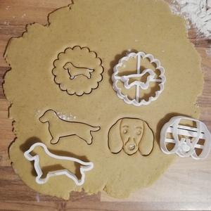 Tacskós linzer-, keksz-, mézeskalács-, süti kiszúró forma szettben, Otthon & Lakás, Konyhafelszerelés, Sütikiszúró, Mindenmás, Mézeskalácssütés, Tacskós linzer-, keksz-, mézeskalács kiszúró forma szettben.\nTacskófej, tacskó sziluett, tacskós lin..., Meska