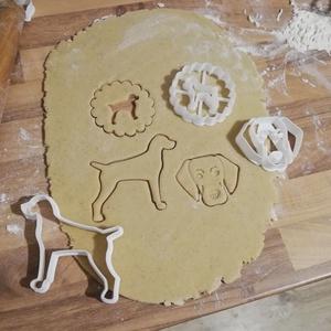 Vizslás linzer-, keksz-, mézeskalács-, süti kiszúró forma szettben, Otthon & Lakás, Konyhafelszerelés, Sütikiszúró, Mindenmás, Mézeskalácssütés, Vizslás linzer-, keksz-, mézeskalács kiszúró forma szettben.\nTacskófej, tacskó sziluett, tacskós lin..., Meska