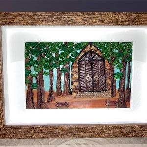 Kis kápolna , Otthon & Lakás, Dekoráció, Kép & Falikép, Gyurma, A Kis kápolna című képem süthető gyurmából készült. \nLakóhelyem egy Balaton-parti kis település, így..., Meska