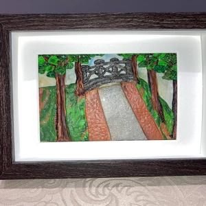 Sóhajok hídja, Otthon & Lakás, Dekoráció, Kép & Falikép, Gyurma, A Sóhajok hídja című képem süthető gyurmából készült. \nLakóhelyem egy Balaton-parti kis település, í..., Meska