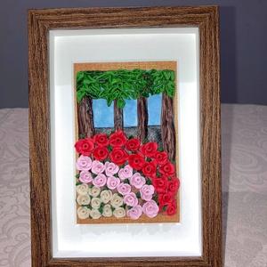 Rózsapark, Otthon & Lakás, Dekoráció, Kép & Falikép, Gyurma, A Rózsapark című képem süthető gyurmából készült. \nLakóhelyem egy Balaton-parti kis település, így a..., Meska