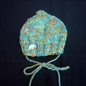 Kötött pamut fiú baba, újszülött sapka, ajáéndék (Evamanufaktura) - Meska.hu