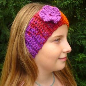 Női felnőtt horgolt színes fejpánt fülmelegítő, ajándék - ruha & divat - sál, sapka, kendő - fejpánt - Meska.hu