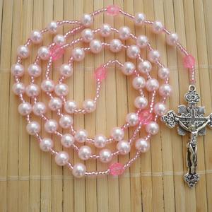 Rózsaszín-pink gyerek, kislány rózsafüzér,  keresztelő, első áldozás, bérmálás ajándék (Evamanufaktura) - Meska.hu
