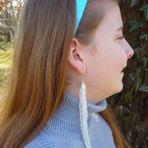 VÁLLIG ÉRŐ, extra hosszú szépséges gyöngy fülbevaló, Ékszer, Csillár fülbevaló, Fülbevaló, Gyöngyfűzés, gyöngyhímzés, Meska