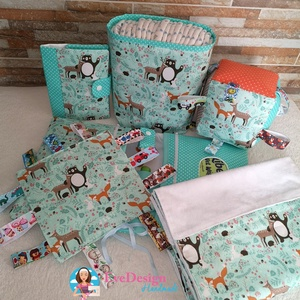 Babalátogató ajándék csomag névhímzéssel, Játék & Gyerek, Babalátogató ajándékcsomag, Varrás, Ajándék csomag! Ajándék névhímzéssel! \n\nAmennyiben igényled úgy a kiskönyv borítóra és a pelenka tás..., Meska