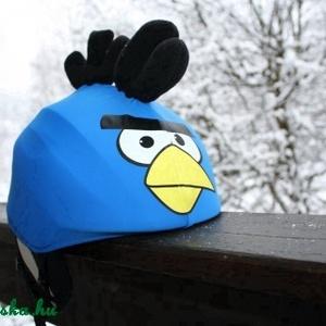 Kék Angry Birds sisakhuzat univerzális méretben, XS-XXXL bukósisakokra tervezve (Evercover) - Meska.hu