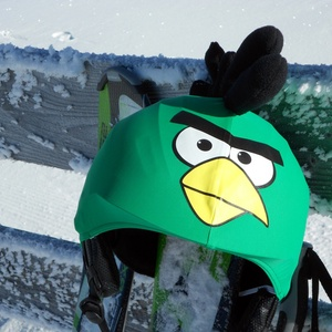 Zöld Angry Birds sisakhuzat univerzális méretben, XS-XXXL bukósisakokra tervezve, Sisakhuzat & Üléshuzat, Ruha & Divat, Varrás, ANGRY BIRDS sisakhuzattal igazán vagánnyá és különlegessé varázsolhatod bukósisakodat!\n\nRugalmas ela..., Meska