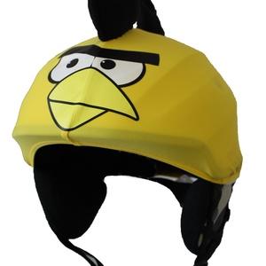 Sárga Angry Birds sisakhuzat univerzális méretben, XS-XXXL bukósisakokra tervezve, Sisakhuzat & Üléshuzat, Ruha & Divat, Varrás, ANGRY BIRDS sisakhuzattal igazán vagánnyá és különlegessé varázsolhatod bukósisakodat!\n\nRugalmas ela..., Meska