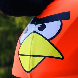 Narancs Angry Birds sisakhuzat univerzális méretben, XS-XXXL bukósisakokra tervezve, Sisakhuzat & Üléshuzat, Ruha & Divat, Varrás, ANGRY BIRDS sisakhuzattal igazán vagánnyá és különlegessé varázsolhatod bukósisakodat!\n\nRugalmas ela..., Meska
