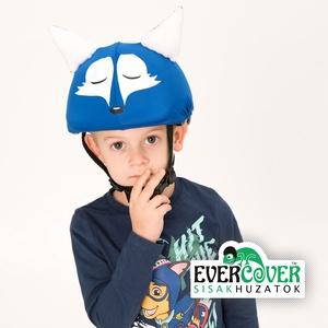 Kék róka sisakhuzat gyerekeknek, XS-M bukósisakokra tervezve, Sisakhuzat & Üléshuzat, Ruha & Divat, Varrás, KÉK RÓKA sisakhuzattal vidámmá varázsolhatod gyermeked bukósisakját!\nRugalmas elasztikus anyagból ké..., Meska