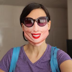 Tündöklő mosoly - női textil arcmaszk (Evercover) - Meska.hu