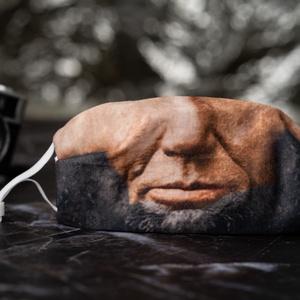 Aktívszenes filterrel, dróttal és stopperrel: Lincoln férfi textil arcmaszk, Vicces, Maszk, Arcmaszk, Fotó, grafika, rajz, illusztráció, Varrás, A Lincoln arcmaszk a textilmaszkokkal megegyező funkciót tölt be és az általa nyújtott védelem mérté..., Meska
