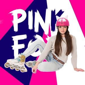 Pink róka sisakhuzat gyerekeknek, XS-M bukósisakokra tervezve, Sisakhuzat & Üléshuzat, Ruha & Divat, Varrás, Pink RÓKA sisakhuzattal vidámmá varázsolhatod gyermeked bukósisakját!\nRugalmas elasztikus anyagból k..., Meska