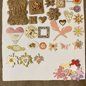 Scrapbook díszítőelemek csomagban, DIY (Csináld magad), Egységcsomag, Papírművészet, Gyurma, Napló, 3D képek díszítésére ajánlom a levegőn száradó gyurmából készült formáimat.\nA levegőn száradó..., Meska