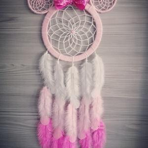 Minnie egér álomfogó, Álomfogó, Dekoráció, Otthon & Lakás, Gyöngyfűzés, gyöngyhímzés, Mindenmás, Rendelésre készülő minnie egeres álomfogók, bármilyen színben rendelhető :) 50-60 cm hosszúságú, tol..., Meska