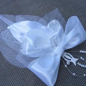 Esküvői kitűző , Esküvő, Kiegészítők, Kitűző, Varrás, Virágkötés, Meska