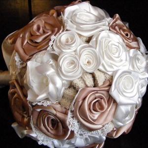 Bieder Gold menyasszonyi csokor,tartós virágokból - Meska.hu
