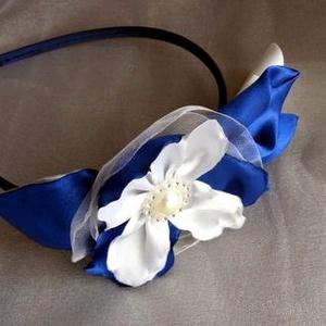 Hajdísz Királykék-Éj kék és Fehér,esküvőre,fotózáshoz (eviara) - Meska.hu