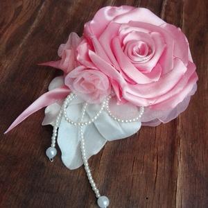 Hajdísz rózsakedvelőknek , Esküvő, Hajdísz, Kontydísz & Hajdísz, Virágkötés, Varrás, Meska