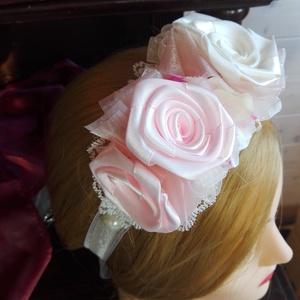 Virágözön hajpánt lányoknak esküvőre - esküvő - hajdísz - hajpánt - Meska.hu