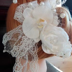 Vintage hajdísz orchideával esküvőre (eviara) - Meska.hu
