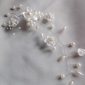 Hajdísz fehér virágos,esküvőre (eviara) - Meska.hu