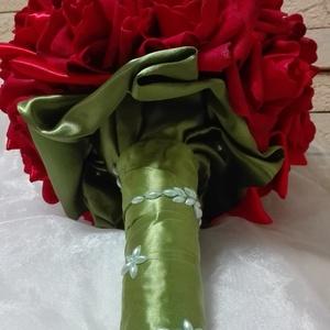 Red Rose menyasszonyi csokor (eviara) - Meska.hu