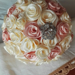 Rose menyasszonyi csokor (eviara) - Meska.hu