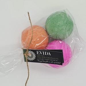 Vízszínező fürdőbomba csomag pink-narancs-zöld, Fürdőgolyó, Szappan & Fürdés, Szépségápolás, Kozmetikum készítés, Igazi wellness élmény! Aromaterápia, színterápia, hidratálás és méregtelenítés! \n\nKellemes, lazítás ..., Meska