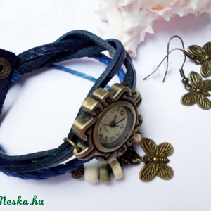 Kék pillangó karóra/ékszeróra  (Evii) - Meska.hu