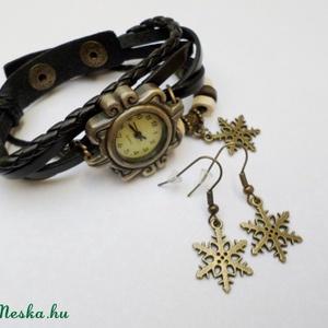 Fekete hópihe karóra/ékszeróra (Evii) - Meska.hu