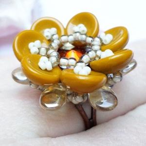 Tavirózsa gyűrű - barna (Evii) - Meska.hu