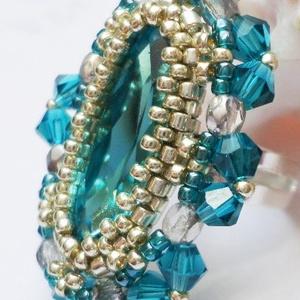 Türkiz swarovski gyűrű (Evii) - Meska.hu
