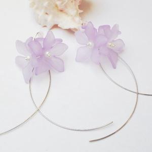 Tavaszi lila virágcsokor fülbevaló (Evii) - Meska.hu