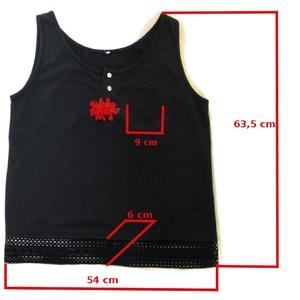 Hímezhető női trikó - fekete, L-es méret - Nincs posta költség (evikusz) - Meska.hu